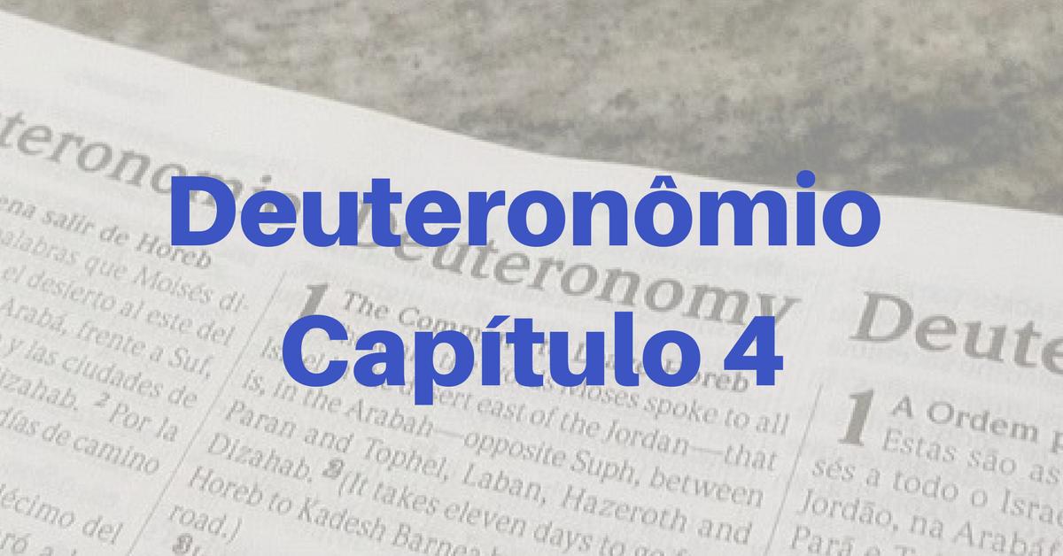 Deuteronômio Capítulo 4