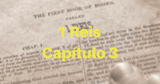 1 Reis Capítulo 3